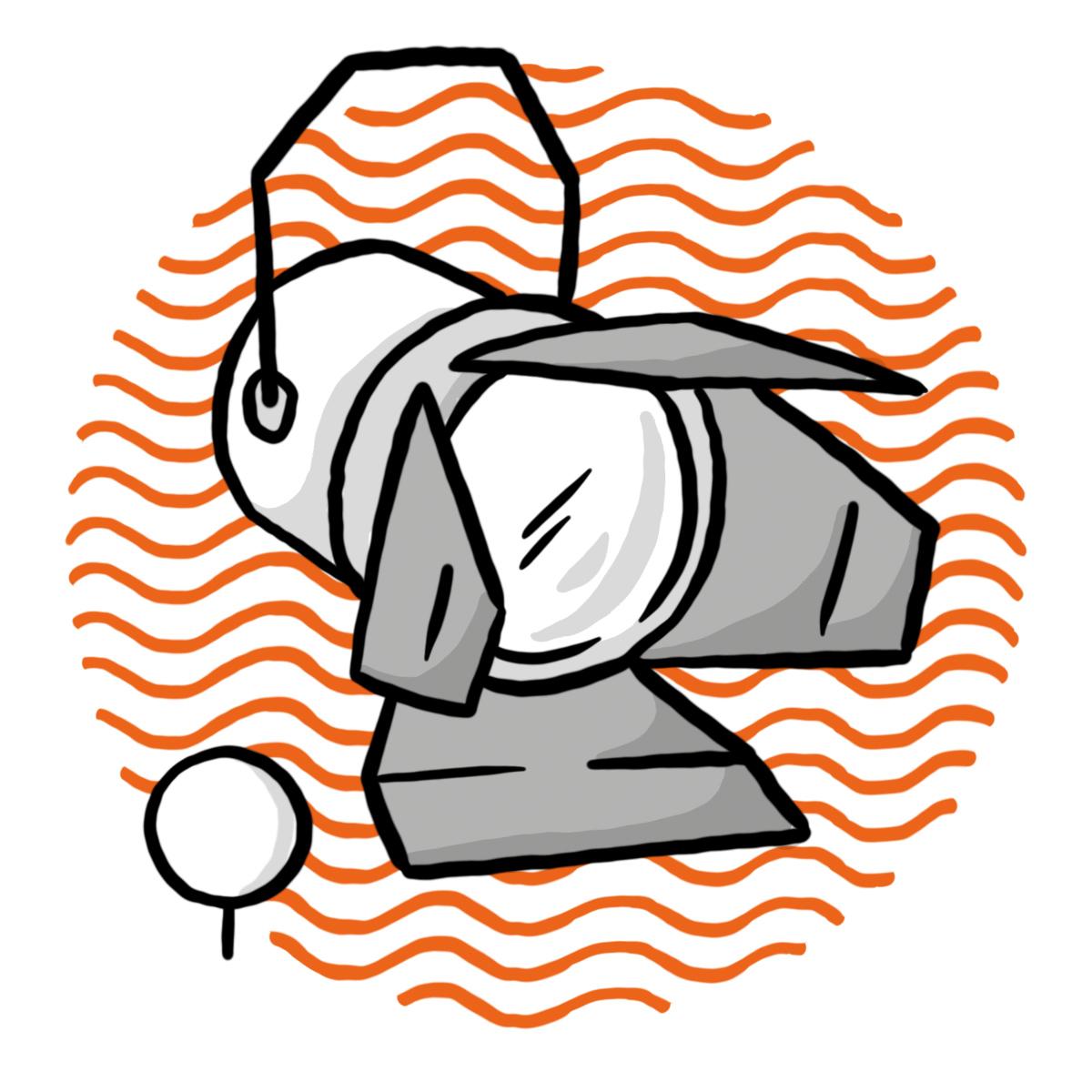 Scheinwerfer Illustration mit Ganztagesklasse-Bäumchen (Symbol für Ganztagesklasse)