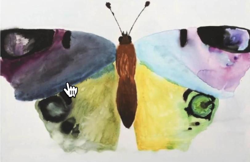 Gemälde eines Schmetterlings
