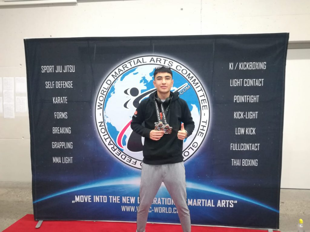 Hassan Nazary mit zwei Silbermedaillen