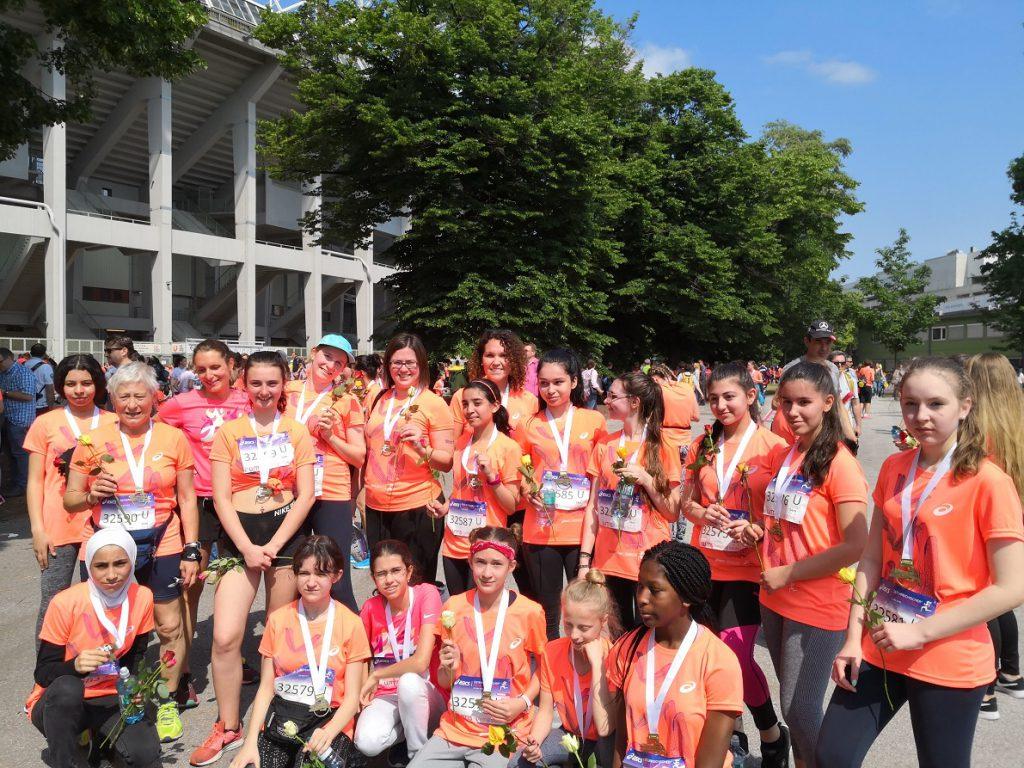 Gruppenfoto beim Frauenlauf
