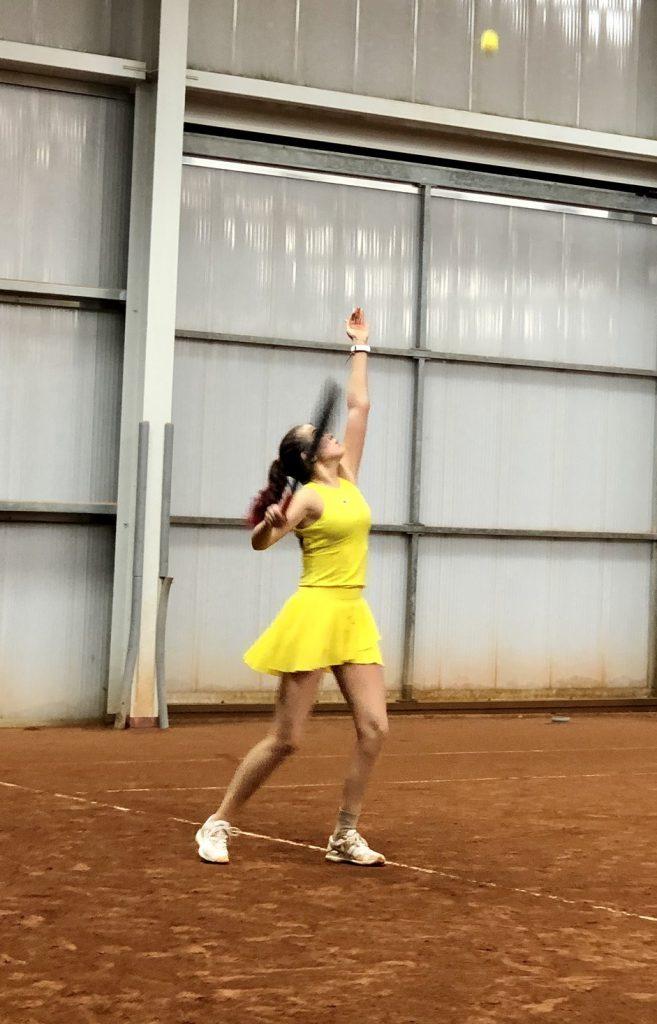 Ekaterina Perelygina spielt beim Wiener Tennis Verband